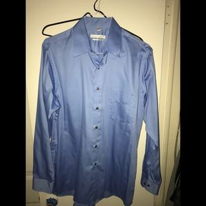 2 different colored new men dress shirts